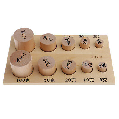Montessori Sensorial Material - Wooden Education Weights Toy Gift for Kids