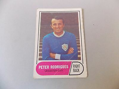 A&BC Football Facts 1969 Green Back #95 Peter Rodrigues Leicester 2ND Series