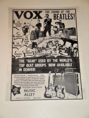 1966 Beatles Vox Ad Music Alley Denver Co Home Of The Voxmobile