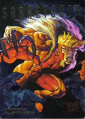 Sabretooth#6 of 9 X-Men Hunters And Stalkers 1995 Fleer Ultra Chase Card C1404