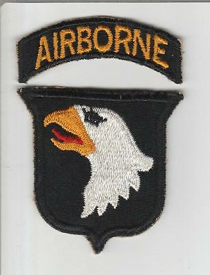 WW 2 US Army 101st Airborne Division Patch & Tab Inv# S385