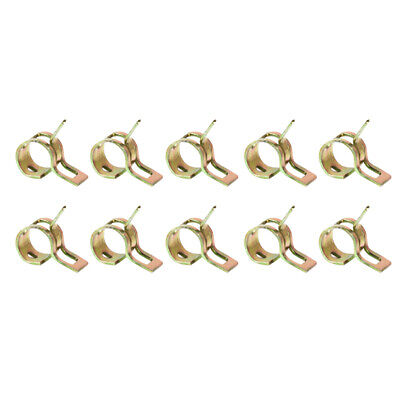 10 x Spring Clip Fuel Hose Line Water Pipe Air Tube Clamps Fastener Dia. 9mm