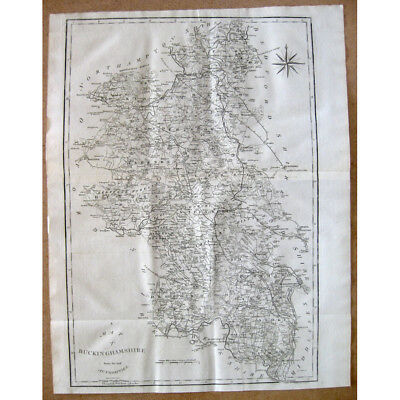 BUCKINGHAMSHIRE - Antique Map 1805 by John Cary From the Best Authorities