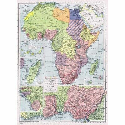 AFRICA Political Boundaries Administered by League of Nations - Vintage Map 1945