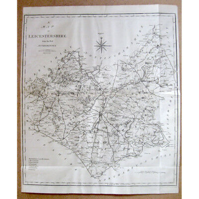 LEICESTERSHIRE - Antique Map 1805 by John Cary From the Best Authorities