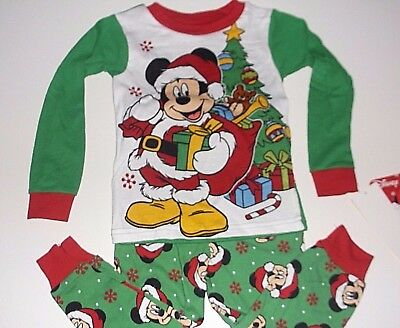 New Disney Mickey Mouse Christmas holiday Toddler boys pajamas 2t 3t 4t 5t d2e4f4b89