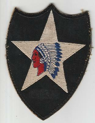 Off Uniform WW 2 US Army 2nd Infantry Division Patch Inv# S484