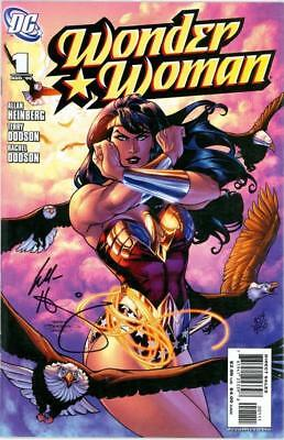 Wonder Woman #1 Df Dynamic Forces Signed Alan Heinberg Coa Jla Movie Dc Comics