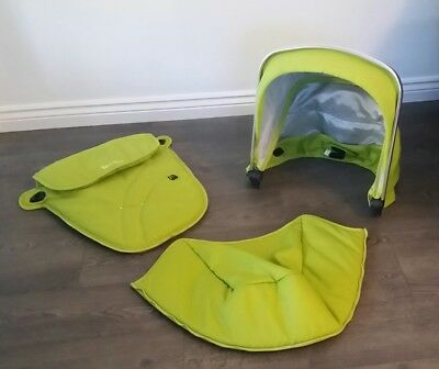Silver Cross Wayfarer Pioneer Hood And Apron Footmuff Colour Pack Lime Green