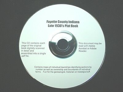 CD ~ 1930's Fayette County Indiana Plat Map Book