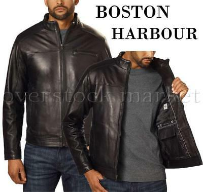New Mens Boston Harbour 100% Genuine Lambskin Leather Jacket! 2017 Variety