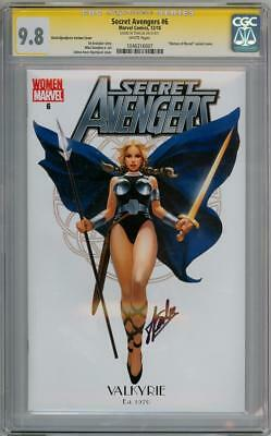Secret Avengers #6 Valkyrie Cgc 9.8 Signature Series Signed Stan Lee Thor Movie