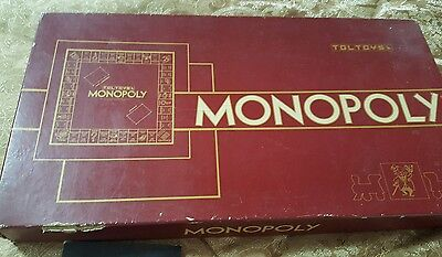 Monopoly Toltoys Maroon  Box Vintage Board Game