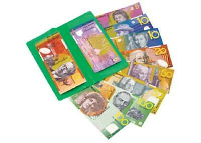 Educational Play Money Australian Currency Notes 100pc in Wallet