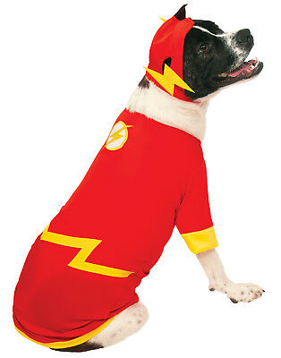 DC Superheros The Flash Pet Dog Cat Halloween Costume