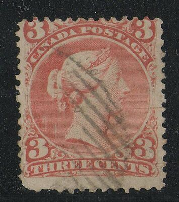 #25 Large Queen 3c  Canada used ..