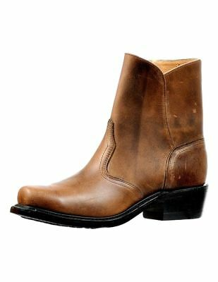 Boulet Motorcycle Boots Mens Broad Square Zipper Old Town Vintage 6363