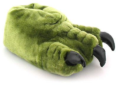 New Boys/Childrens Green Novelty Monster Claw Slippers Gift Ideas UK SIZES
