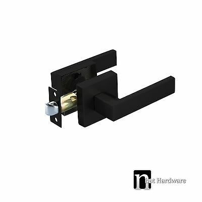 Door Lever Handles Passage Set  - Matt Black Finish Handle (3111MB)
