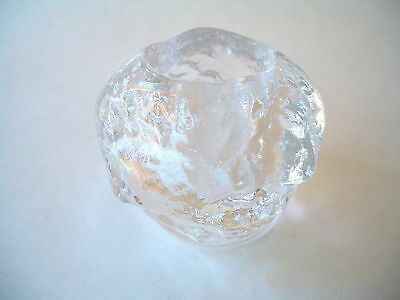 Kosta Boda Sweden Snowball Tealight Candle Holder Crystal