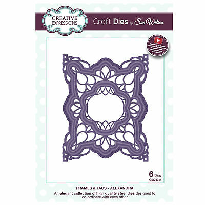 Craft Dies ced4307 Sue Wilson Rahmen & Tags - Alexandra