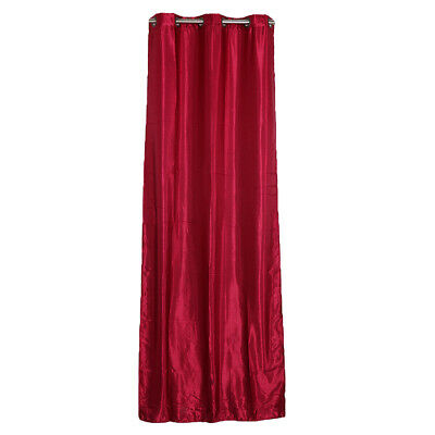 Pure Solid Color Grommet Window Curtain Drape Panel Sheer