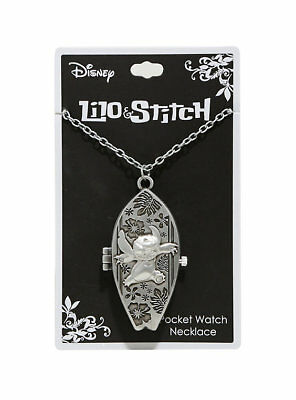 DISNEY LILO & and STITCH SURFBOARD POCKET WATCH NECKLACE BRAND NEW