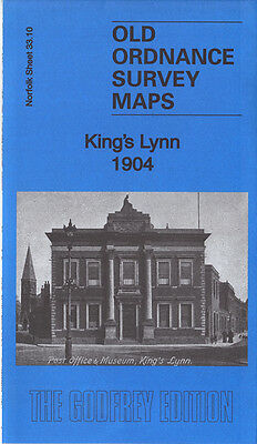 Old Ordnance Survey Map Kings Lynn 1904 Alexandra Dock Guanock Terrace Highgate
