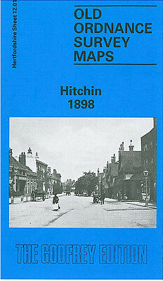 Old Ordnance Survey Map Hitchin 1898 Foxholes Butts Close The Priory The Grove