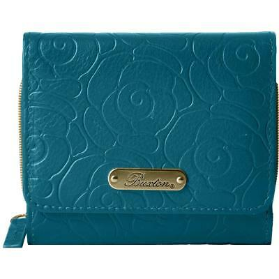 Buxton Womens Rose Garden Pink Embossed Leather Trifold Wallet O//S BHFO 3594