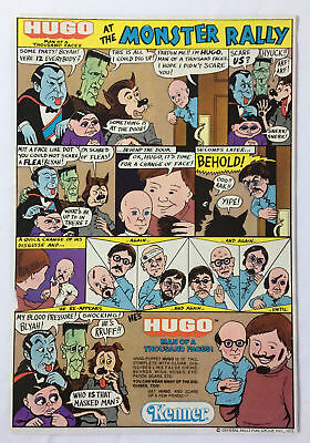 1975 Kenner cartoon ad page~HUGO-MAN OF A THOUSAND FACES