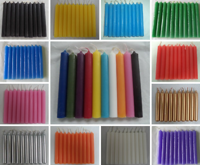 "Spell Candles 4"" Lot of 10 - Choose from 20 Colors Mini Taper Chime Candle Magic"