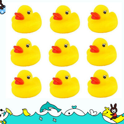 1/50/100 Pcs Yellow Baby Children Bath Toys Cute Rubber Squeaky Duck Ducky Lot