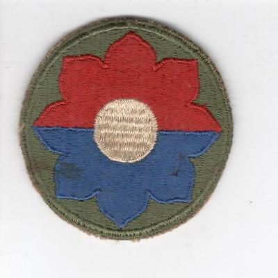 WW 2 US Army 9th Infantry Division Patch Inv# Y982