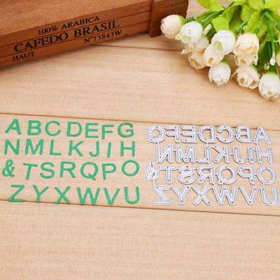 26pcs Letters Cutting Dies Stencil Scrapbooking Embossing Photo Album Card Craft