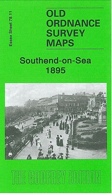 Old Ordnance Survey Map Southend On Sea 1895 North Avenue York Road Clifftown