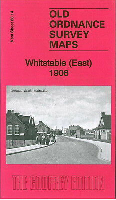 Old Ordnance Survey Map Whitstable East 1906 Rayham Crossing Duncan Down