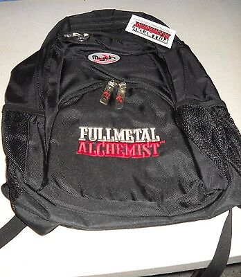 "Fullmetal Alchemist logo Mythware black backpack 19"" full sized NEW w/tags"