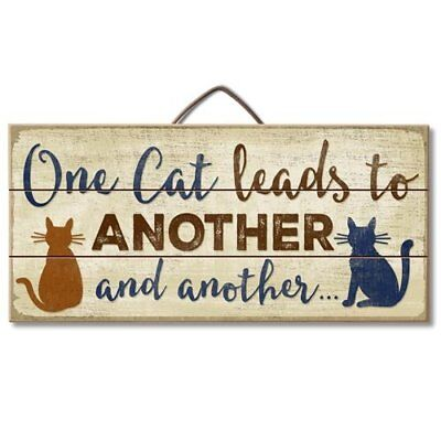 One Cat Leads To Another Reclaimed Pallet Wood Sign USA Made