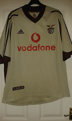 Mens Football Shirt - Benfica FC - S.L.B. - Adidas - Away 2001-2002 - Gold - L