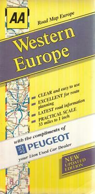 Road Map Western Europe by AA Publishing 4th (... - AA - Acceptable - Map