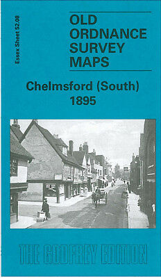 Old Ordnance Survey Map Chelmsford South 1895 Baddow Road New London Road