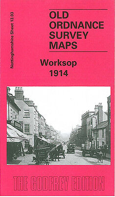 Old Ordnance Survey Map Worksop 1914 Cresswell Street Retford Road Bracebridge