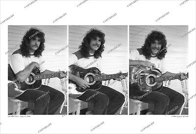 HENRY PAUL At Home 3-FRAME ORIGINAL 1980 PHOTO SEQUENCE The Outlaws & BlackHawk