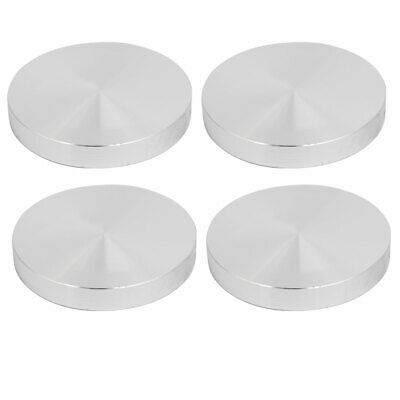 4pcs 65mm Dia 10mm Thickness M10 Thread Hollow Aluminum Disc Polished Finish