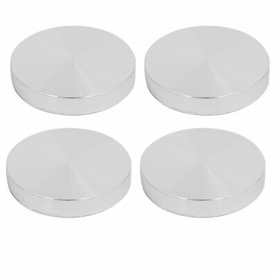 4pcs 55mm Dia 10mm Thickness M10 Thread Hollow Aluminum Disc Polished Finish