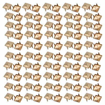 100pcs 6mm Square Shaped Paper Brad Gold Tone for Scrapbooking DIY Kit