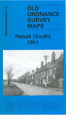 Old Ordnance Survey Map Pelsall South 1901 Heath End Shelfield Goscote Hall