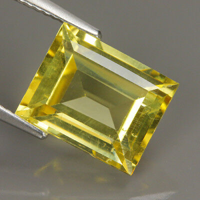 Fabulous 5.74 Ct Natural Unheated Yellow APATITE Octagon Gemstone !!