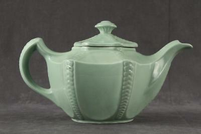 Vintage HALL US China Rare CELADON Mint Green 4 CUP Connie Teapot & Lid 1946